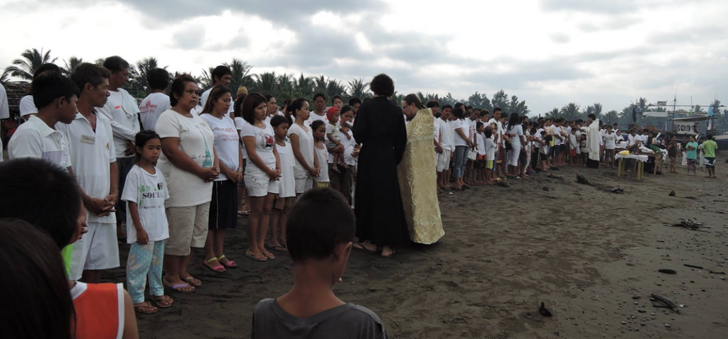 Philipines Orthodox baptism