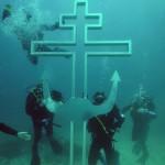 Orthodox Divers Building Underwater Church