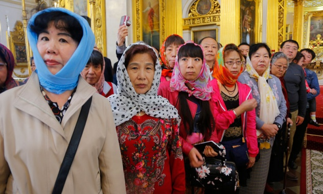 chinese orthodox pilgrims