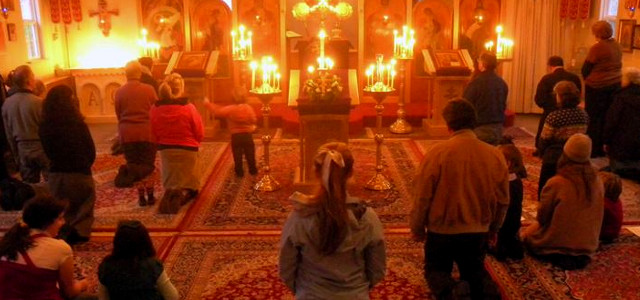 kneeling orthodox